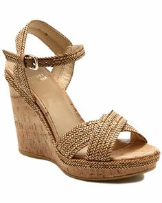 Stuart Weitzman 'Minx' Leather Wedge Sandal