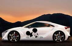 Mickey Mouse Peeking for car decal vinyl decal Disney cute girl decal on Etsy, $27.00