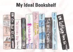 "High school students draw their ""ideal bookshelf"" with personal commentary - good literature project"