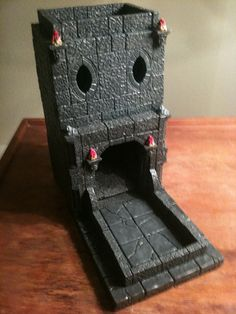 Hand Crafted Plaster Dice Towers by Nat20Creations on Etsy, $65.00