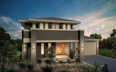 Metricon Home Designs: The Liberty - Oakpark Facade. Visit www.localbuilders.com.au/builders_nsw.htm to find your ideal home design in New South Wales