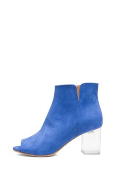 Maison Martin Margiela|Suede Booties in Blue