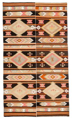 Geometric pattern vintage kilim Long Runner Rug with a size of feet. You can either use this rug in dining room under table or in a living room area infant of sofa or in wide hallways. Long Runner Rugs, Rug Runner, Turkish Kilim Rugs, Vintage Patterns, Bohemian Style, Maps, Costume, Beige, Wool