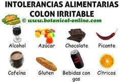 intolerancias alimentarias colon irritable, alimentos prohibidos para dieta intestino irritable