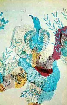 World History: Ancient History: Minoans: Minoan Garden Fresco: HistoryWiz