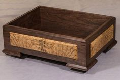 Decorative Boxes: This piece number 1274 is a one of a kind Stuff Box (for your stuff) made of Wal… Small Wooden Boxes, Wooden Jewelry Boxes, Small Boxes, Wood Boxes, Jewellery Boxes, Woodworking Workshop Plans, Woodworking Inspiration, Woodworking Box, Youtube Woodworking