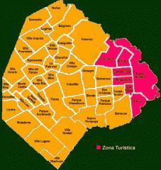 Mapa de barrios de Buenos Aires