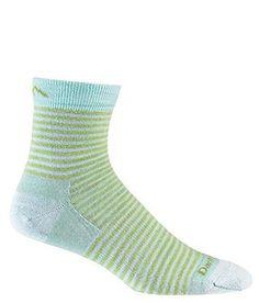 Darn Tough - Mini Stripe Shorty Sock - Large - Lime Darn Tough. $15.95