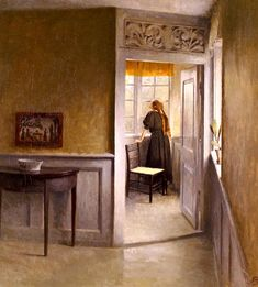 Peter Vilhelm Ilsted (Danish artist, 1861-1933) Looking Out the Window