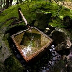 Square Tsukubai Fountain by treyerice, via Flickr