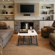 TV Over Fireplace Design Ideas, Pictures, Remodel, and Decor - page 21