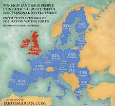 Languages Voted Most Useful for Personal Development in the EU, by Country