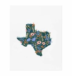 Texas Wildflowers Art Print by RIFLE PAPER Co. | Made in USA