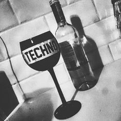 A glass of techno