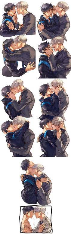 On Ice Yuuri, Viktor, victuuri I am so weak for deep eye-contact pauses during kisses. RIP me<-- I bet you a million bucks that victor started it. I love my baby victor. Yuri!!! On Ice, Ice Ice Baby, Love On Ice, Manga Anime, Me Anime, Yuri On Ice Victor, Yuri On Ice Comic, Ai No Kusabi, Katsuki Yuri