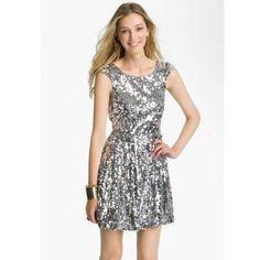 Flash Salesilver/Grey Sequin Party Dress