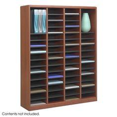 Safco 9331CY E-Z Stor® Wood Literature Organizer, 60 Compartments