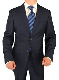 Click Pic for More Info  .Giorgio Exclusive Platinum Label Italian Style Suit Worsted Wool 2 Button Business Suit French Navy BlueThis Platinum Label Suit is made of premium fabric super 150's Extra Fine Worsted Wool with a modern cut. This suit will be the jewel of your wardrobe. Suits with this caliber of luxurious wool and tailored style sell elsewhere for nearly $1600. It is an investment you will be satisfied with for years to come. Perfect ...