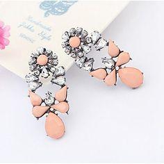 Pengchen Vintage Gemstone Earrings (Light Pink) - GBP £ 1.94