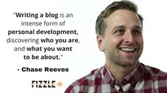 Chase Reeves #quote #blogging Personal Development, Blogging, Social Media, Let It Be, Graphic Design, Writing, Sayings, Business, Quotes
