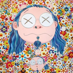 Takashi Murakami self portrait from show in Versailles