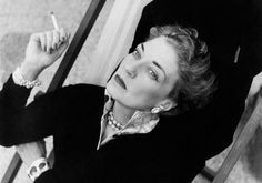 Countess Mona von Bismarck. She's not young here and I loathe smoking but she was GLAMOROUS.