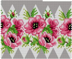 "Бисероплетение ""М.""'s photos – 116 albums Beaded Bracelet Patterns, Bead Loom Patterns, Peyote Patterns, Beading Patterns, Seed Bead Flowers, Beaded Flowers, Beaded Boxes, Beaded Christmas Ornaments, Peyote Beading"