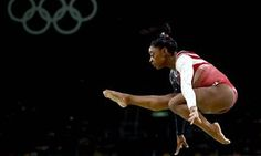 Simone Biles in the women's team final at the Rio Olympics