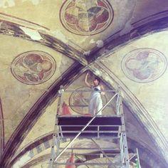Restauro al Chiostro Verde di Santa Maria Novella Florence