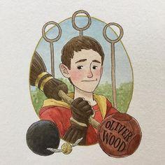Oliver Wood #Harry_Potter