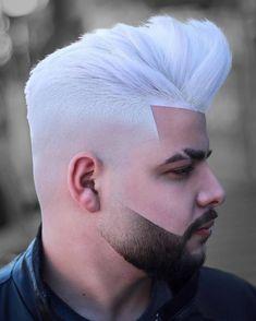 Mann haare weiß färben Haare weiß
