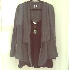 NEW Grey Frenchi Open Front Cardi Sweater Cute and comfy open front cardi sweater seeking a new home. Pre loved and in good condition with no rips, holes or stains. From Nordstrom. 100% Cotton. Machine wash. ✳️Price is negotiable - please feel free to submit your best offer!✳️ Frenchi Sweaters Cardigans