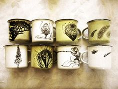 Embellished tin cups love these | SA Décor & Design Blog