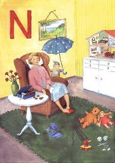 Henrin aapinen kirjain N Kids, Fictional Characters, First Grade, Young Children, Boys, Children, Fantasy Characters, Boy Babies, Child
