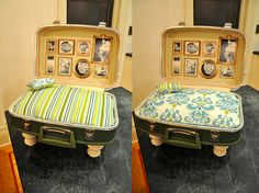Feeling crafty? This repurposed luggage pet bed would make any pet's holiday wish list!