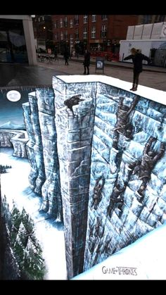 Awesome 3D Illusion of The Wall from Games of Thrones - My Modern Metropolis