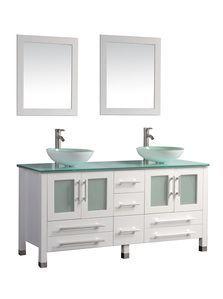 "MTDVanities Cuba 71"""" Double Sink Bathroom Vanity Set, White"
