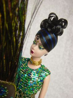 "Indira: Former ''Lingerie #6"" Silkstone Barbie. Wide Eyed Girls - One-Of-A-Kind (OOAK) Fashion Dolls by Dan Lee"