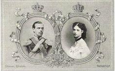 engagement postcard of Tsarina Maria Feodorovna of Russia, nee Princess Dagmar of Denmark, and Tsar Alexander III