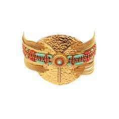 Pour enchanter votre quotidien, choisissez ce bijou Satellite qui n'aura plus rien d'accessoire. Chainettes dorées, strass et turquoise, ce bracelet habillera votre poignet d'une note précieuse.