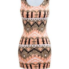 Yoins Multicolor Print Sleeveless Mini Dress ($12) ❤ liked on Polyvore featuring dresses, black, multi-color dress, mini dress, pattern dress, no sleeve dress and colorful dresses