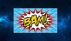 Bam! Fridge Magnet. Comic Book Pop Art. Retro