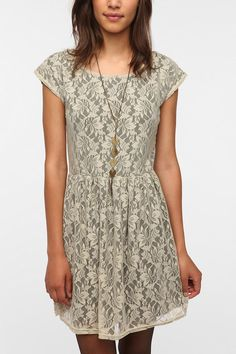 Urban Outfitters - Urban Renewal Lace & Jersey Gibson Dress