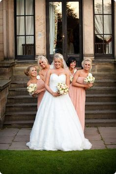 Peach! #bridesmaids #dress #bride