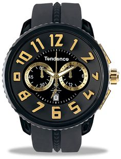 Tendence Black/Yellow Chronograph - Cool Watches from Watchismo.com
