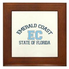 Emerald Coast - Varsity Design. Framed Tile on CafePress.com