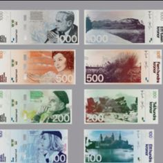 Beautiful money design! Stockholm Design Lab participated in the competition for the redesign of the Swedish currency. Unfortunately, their design was not chosen. (from Design Daily)