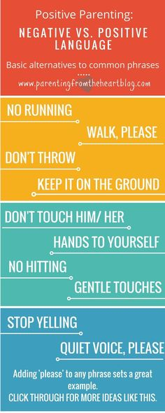 Negative language impacts our children. Find more effective positive parenting alternatives to these phrases. These positive parenting strategies are perfect for parenting toddlers and preschoolers. Toddlers And Preschoolers, Parenting Toddlers, Kids And Parenting, Parenting Hacks, Parenting Plan, Parenting Classes, Parenting Styles, Foster Parenting, Parenting Websites