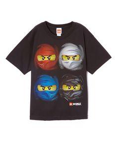 Black LEGO Ninjago Four-Face Tee - Boys #zulily #zulilyfinds