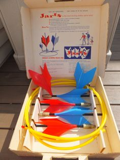 Classic Jarts Missile Lawn Dart Game Vintage 1960's outdoor activity with Box